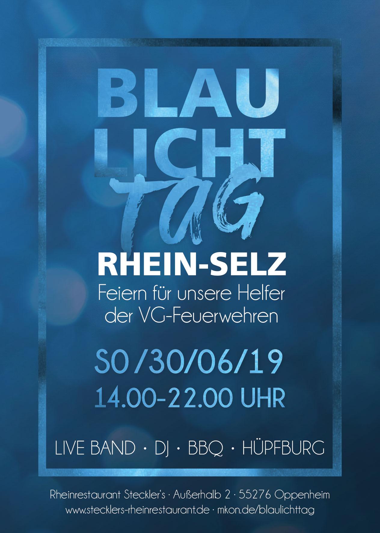 Plakat Blaulichttag